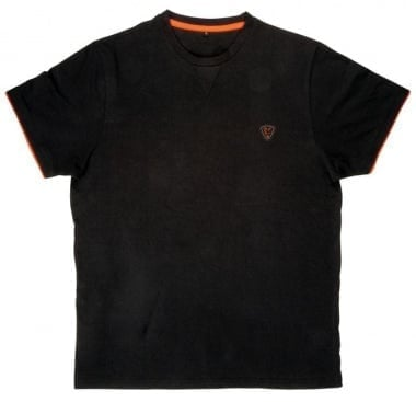 Fox Black Orange Brushed Cotton T Тениска