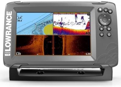Lowrance Hook2 7 SplitShot Transducer Сонар риболов