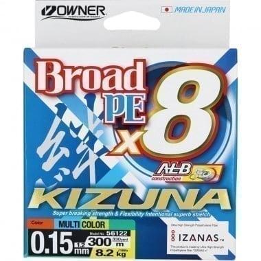 Owner KIZUNA x8 300m Multicolor Плетено влакно 8 нишково влакно