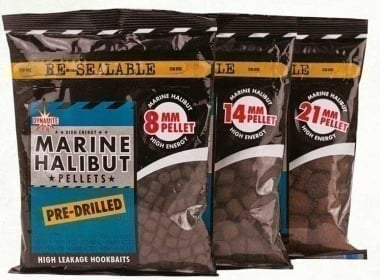 Dynamite Baits Marine Halibut Pre-Drilled Pellets Захранка пелети
