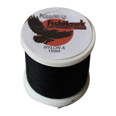 FishHawk Nylon Whipping Thread Black Конец
