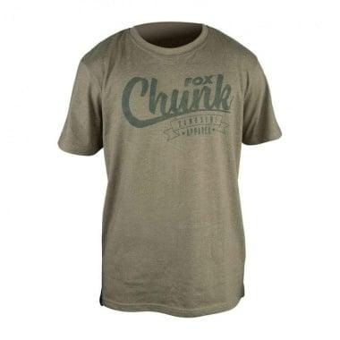 Fox Chunk Olive stonewash Olive L Тениска