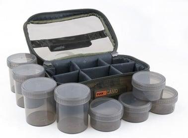 Fox Camolite Glug 8 Pot case Чанта и осем бурканчета