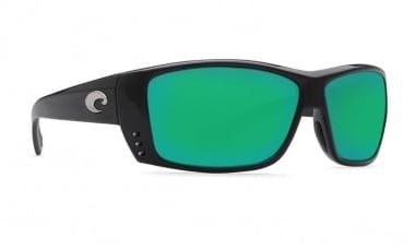 Costa Cat Cay Shiny Black Green Mirror 580P Очила