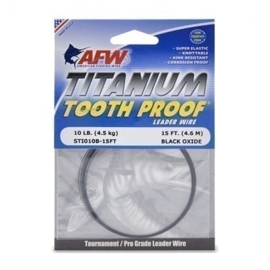 American Fishing Wire Titanium Tooth Proof Single Wire Метален повод