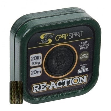 Carp Spirit Re-Action Braid 20m Camo Green Монофилно влакно