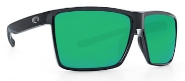 Costa Rinkon Shiny Black Green Mirror 580P Очила