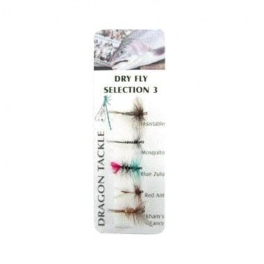 Dry Fly 3 Мухи комплект