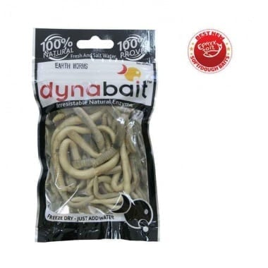 Dynabait Freeze Dried Earth worms Естествена примамка