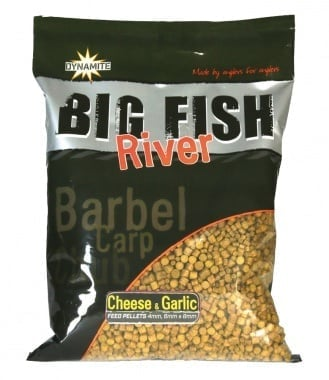 Dynamite Baits Big Fish River - Cheese & Garlic pellets Пелети