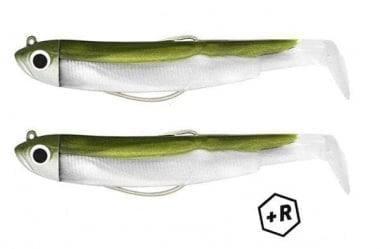 Fiiish Black Minnow No3 Double Combo - 12 cm, 12g Комплект Kaki + Тракалки
