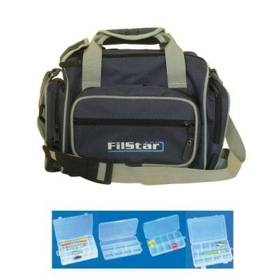 Filstar De Luxe /KK24/ Combo за спиннинг Чанта + 6 кутии