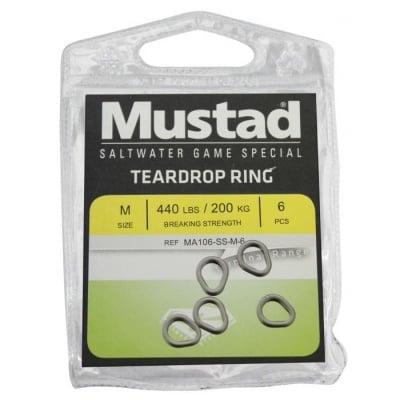 Mustad Teardrop Ring Ринг солиден