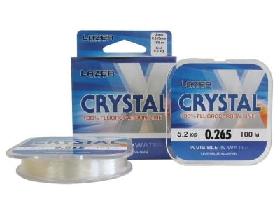 Lazer Crystal X 100m Флуорокарбонов повод