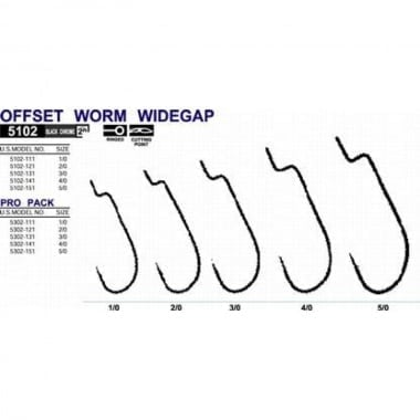 Owner OFFSET WORM WIDEGAPE 5102 Офсетна кука