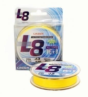 Lazer PE L8 Fluo - Yellow Плетено Влакно