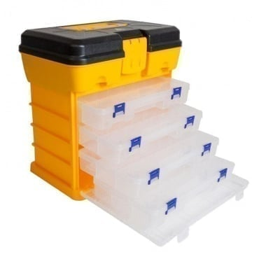 Raven Plastic Utility Box with 4pcs Organizers Куфар
