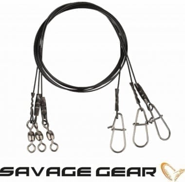 Savage Gear Black7 Trace 40cm 25kg Метален повод