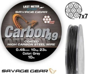 Savage Gear Carbon49 10m Метален повод