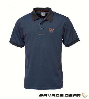 Savage Gear Simply Savage 3-Stripes Polo Тениска с яка