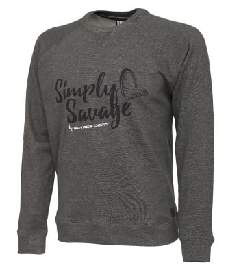 Savage Gear Simply Savage Sweater Melange Grey Блуза