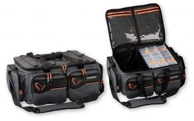 Savage Gear System Box Bag XL 3 Boxes + Waterproof cover Чанта с кутии за примамки