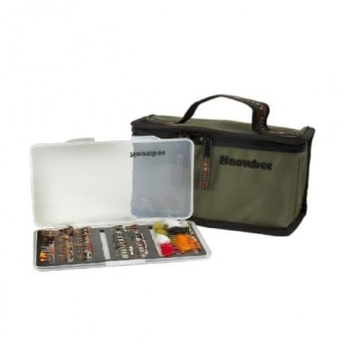 Snowbee Slimline Fly Box Kit Чанта с кутии