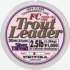 Unitika Silver Thread Trout Leader FC 30m Повод