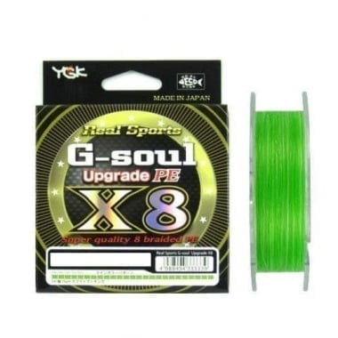 YGK PE Line Real Sports G-soul X8 Upgrade 200 m Плетено влакно
