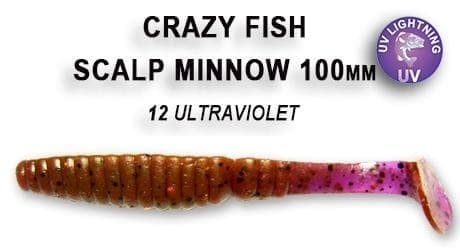 Crazy fish SCALP MINNOW 8см Силиконова примамка 12 Ultraviolet
