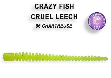 Crazy Fish CRUEL LEECH 10см Силиконова примамка 6 Chartreuse