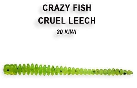 Crazy Fish CRUEL LEECH 10см Силиконова примамка 20 Kiwi
