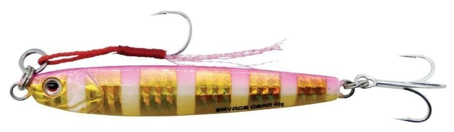 Savage Gear Jig E-SG 3D Slim Minnow 40g Пилкер Gold Pink Zebra
