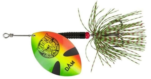 MADCAT BIG BLADE SPINNERS Блесна GREEN FIRETIGER