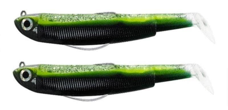 Fiiish Black Minnow №3 Double Combo: 2 джиг глави 12гр. + 2 силиконови тела 12см. Комплект