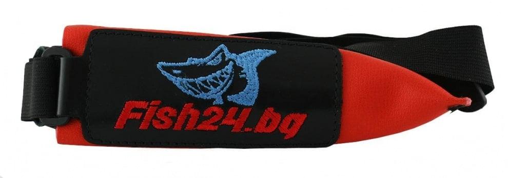 Fish24 Калпачок - кожен двоен с ластик Червен / Кожа