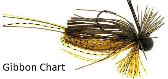 Elitelure Tigris Boo Bug Jig Примамка Gibbon Chart