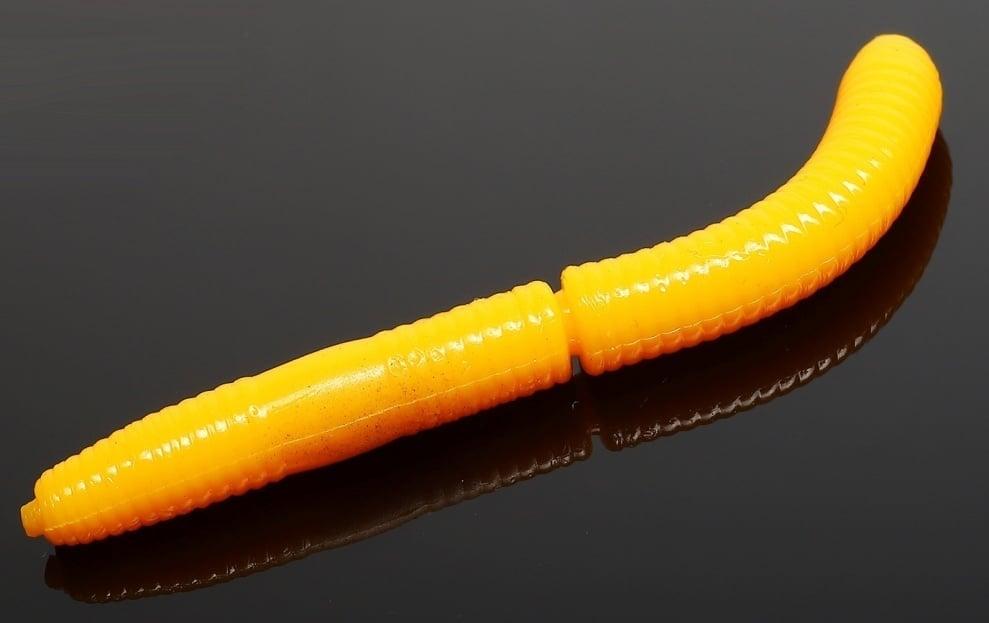 Libra Lures FATTY D'WORM 65 Силиконова примамка червей 008 Dark yellow (вкус Рак)