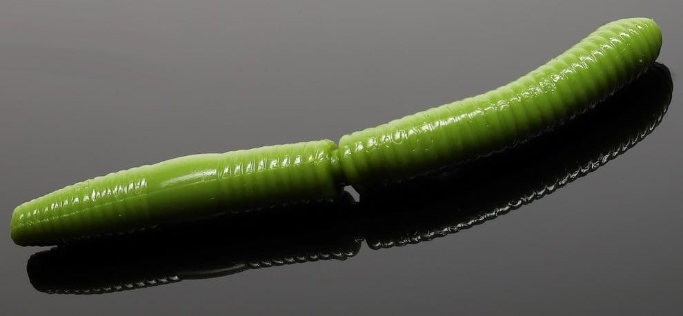 Libra Lures FATTY D'WORM 65 Силиконова примамка червей 031 Olive (вкус Рак)