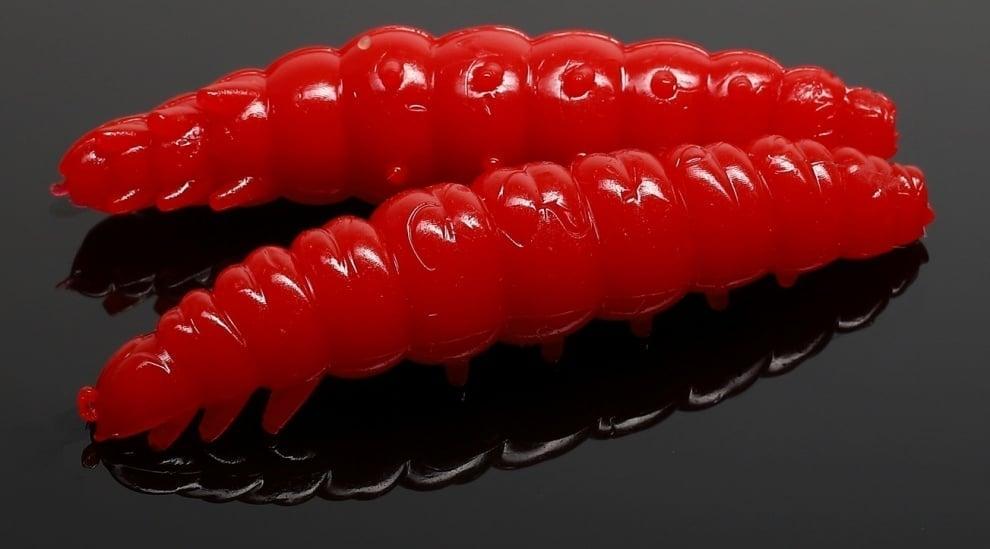 Libra Lures LARVA 35 Силиконова примамка ларва 021 Red (вкус Рак)