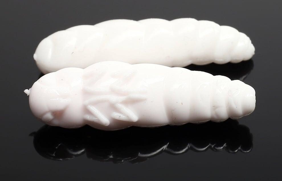 Libra Lures LARGO 30 Силиконова примамка ларва 001 White (вкус Рак)