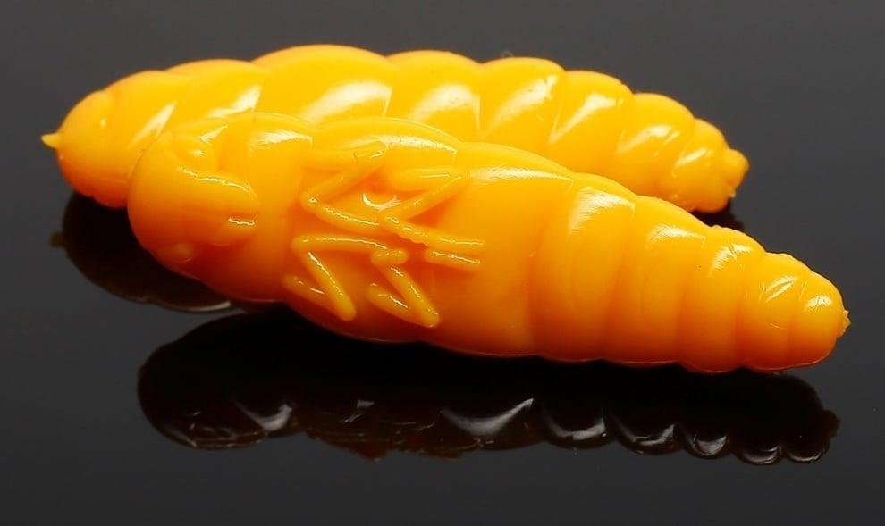 Libra Lures LARGO 30 Силиконова примамка ларва 008 Dark yellow (вкус Рак)