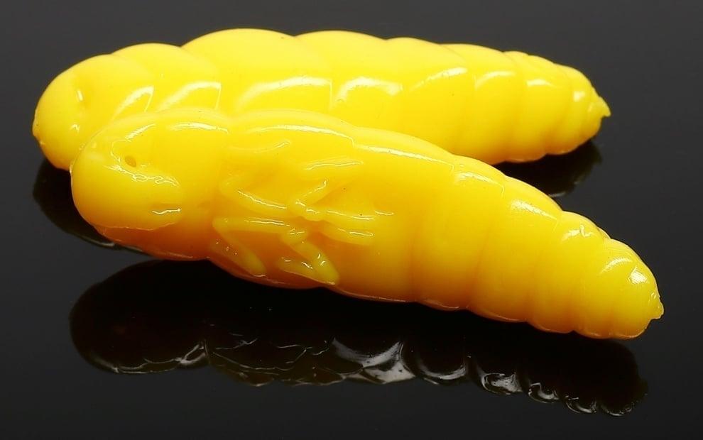 Libra Lures LARGO 30 Силиконова примамка ларва 007 Yellow (вкус Рак)