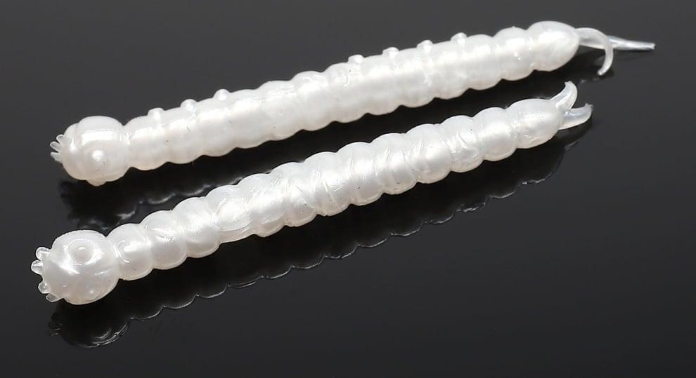Libra Lures SLIGHT WORM 38 Силиконова примамка 004 Silver Pearl (вкус Сир.)
