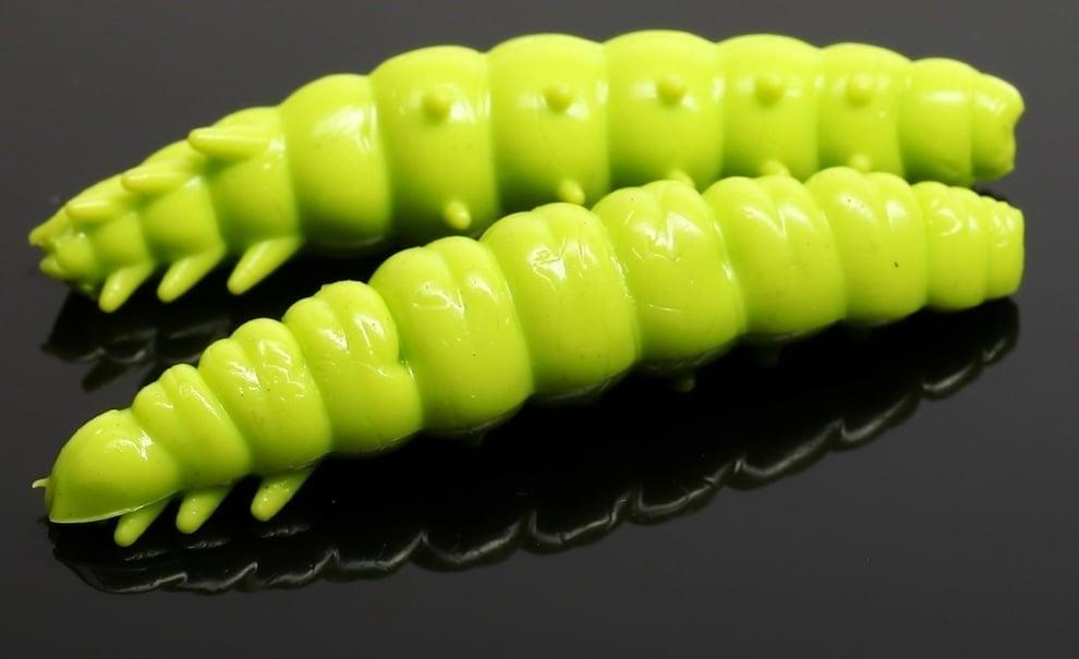 Libra Lures LARVA 35 Силиконова примамка ларва 027 Green apple (вкус Сир.)