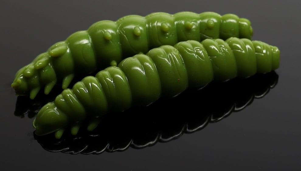 Libra Lures LARVA 35 Силиконова примамка ларва 031 Olive (вкус Сир.)