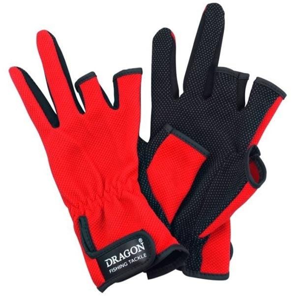 Dragon Ръкавици с три пръста Червени  TCH-RE-01-001