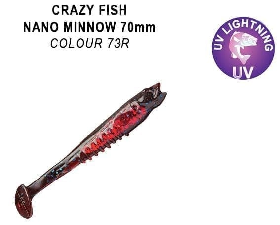 Crazy Fish Nano Minnow 7см. Силиконова примамка 73 R