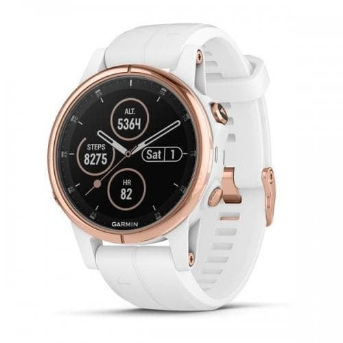 Garmin Fēnix® 5S Plus Мултиспорт GPS смарт часовник Sapphire Rose gold с бяла каишка