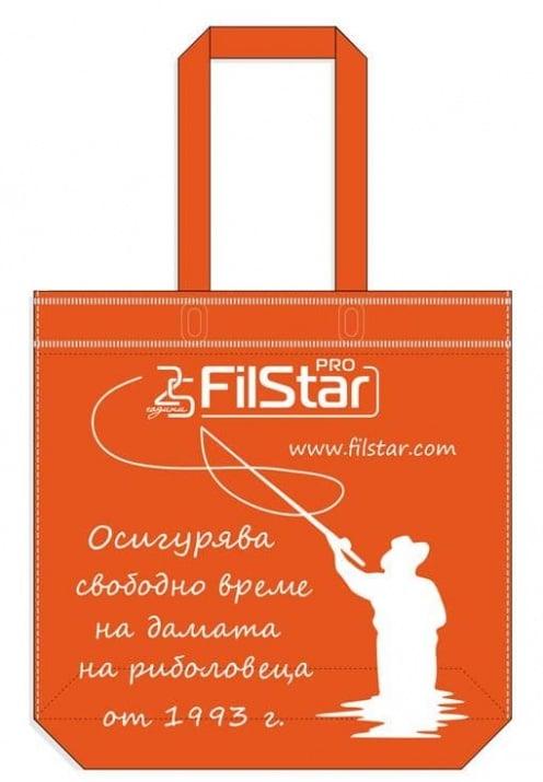 FilStar Торбичка от плат дълги дръжки оранжева с дъно